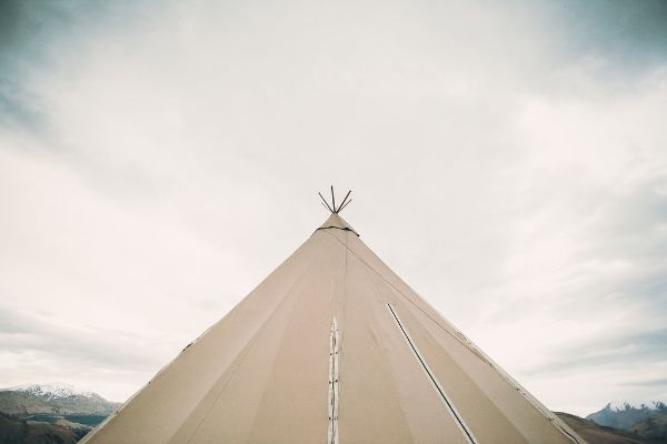 Tipi set up for wedding or corporate event